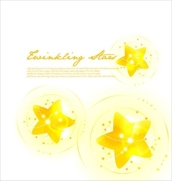 colorful vector background 2 star