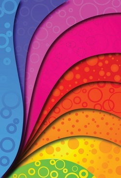 colorful vector background arc