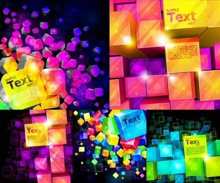 colorful vector background cube