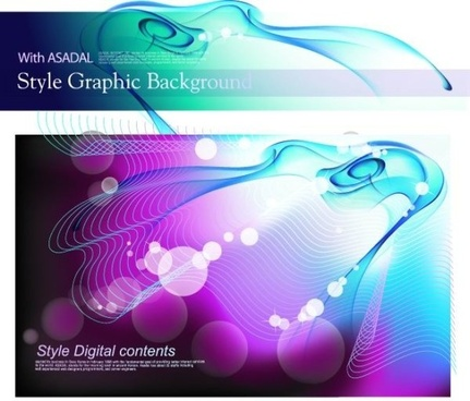 colorful vector background flow line phantom 1