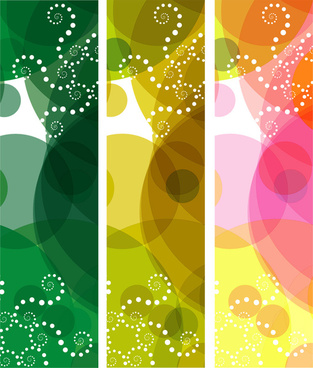 colorful vector banner background