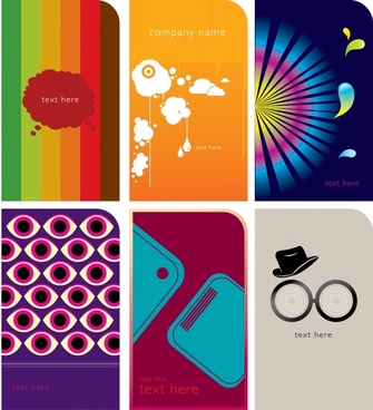 decorative background sets colorful vertical design