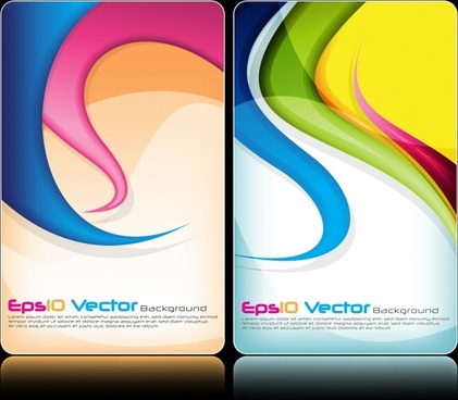 brochure background templates colorful abstract curves decor