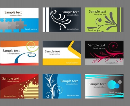 card templates modern colorful themes decor