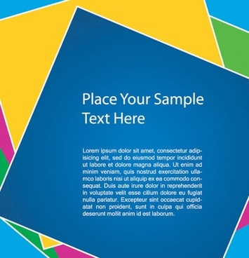 colorful vector card background