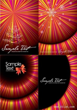 christmas background templates colorful sparkling 3d rays illusion