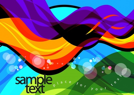 abstract background colorful dynamic swirled lines decor