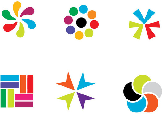 colorful vector logo elements