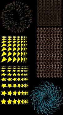 fireworks design elements repeating shapes decor