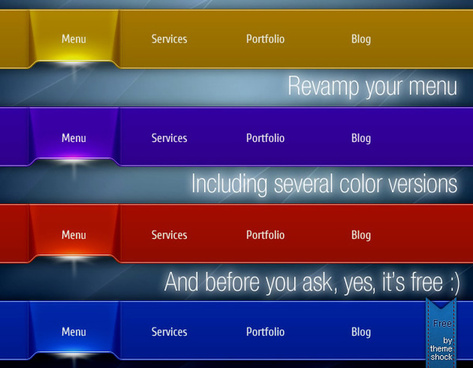 colorful vector menu pack