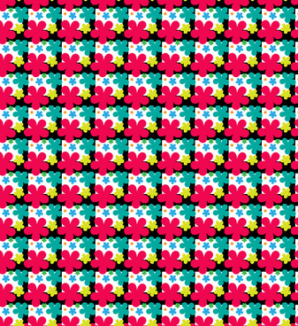 colorful vector petal pattern