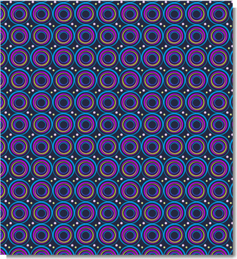 colorful vibrant circle seamless vector pattern