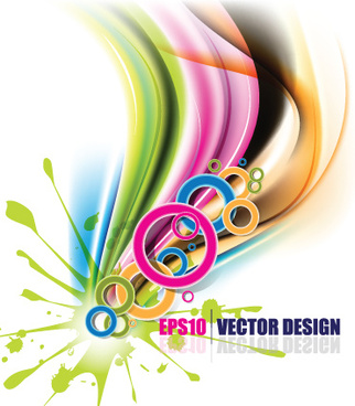 colorful watercolor backgrounds vector