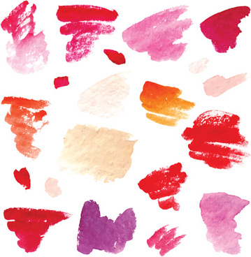 colorful watercolor ink brushes vector
