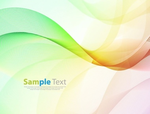 colorful wave background abstract vector illustration