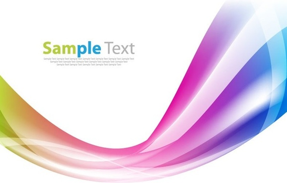 colorful waves abstract background vector graphic