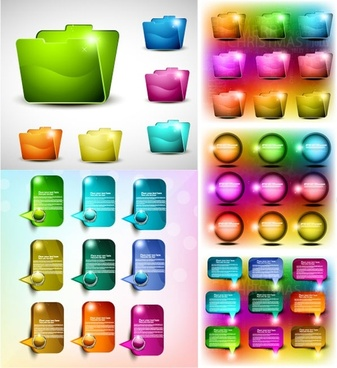 colorful web design elements vector