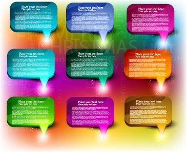 colorful web design elements vector