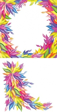 colorful willow shape vector