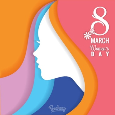 colorful womens day background