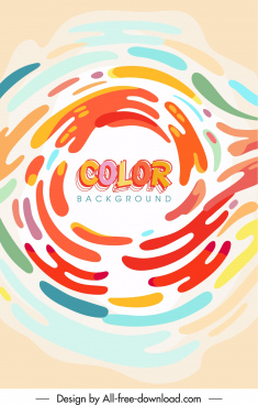 colors background template flat dynamic decor