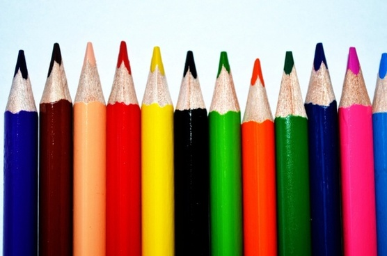 colors crayons background