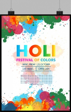colors festival poster colorful grunge design