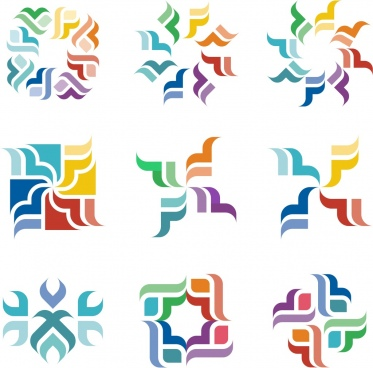 coloured abstract shapes collection