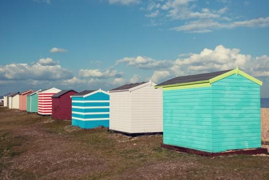coloured huts