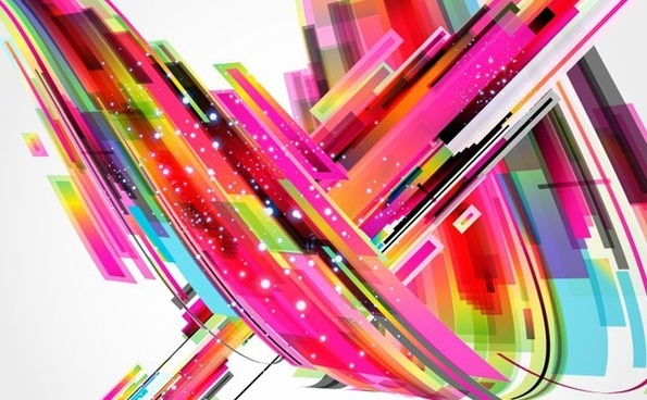 colourful abstract background 3d curved style