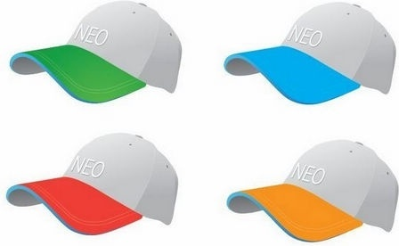 Colourful Baseball Caps Vector