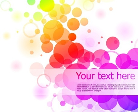colourful circles background sparkling style