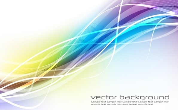 abstrac background colorful waving lines decoration