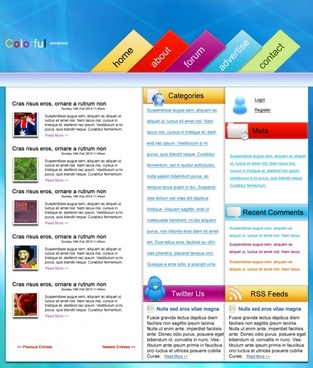 Colourful WordPress – Free PSD Template