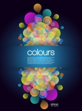 colours abstract background vector