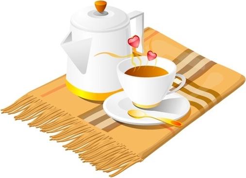 combination of vector coffee