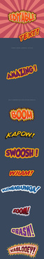 comic book styles font design vector