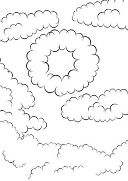 Comic Cloud Brushes