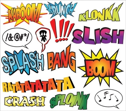 comic style decorations vector