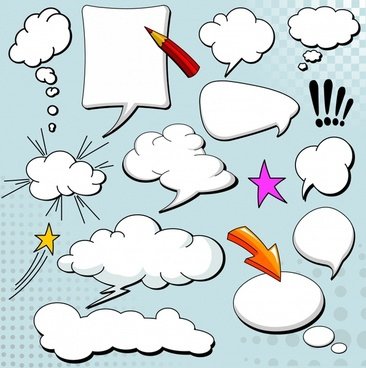 speech bubble templates dynamic cloud shapes