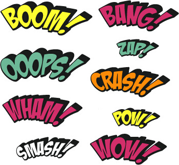 comic styles text design vector