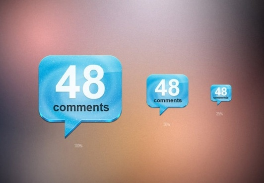 comments icon psd layered