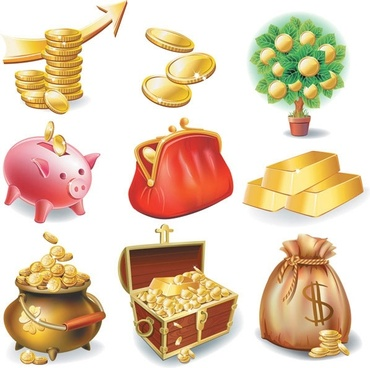 commercial and financial icon vector 3