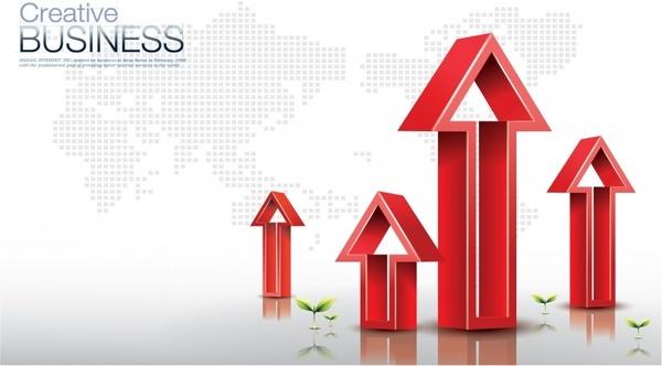 commercial applications arrows vector