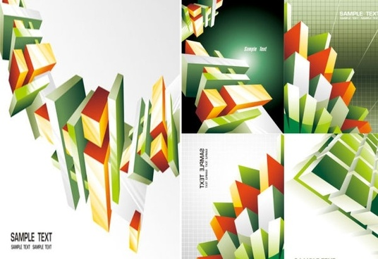 commercial background vector the trend cube