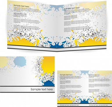brochure background templates modern colorful grunge inks decor
