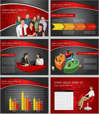 commercial finance ppt background vector