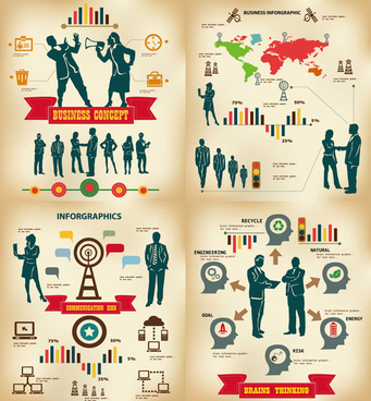commercial information graph vector graphic