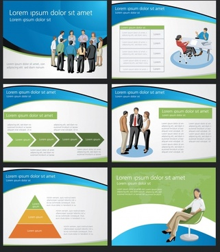 business presentation templates teamwork chart decor