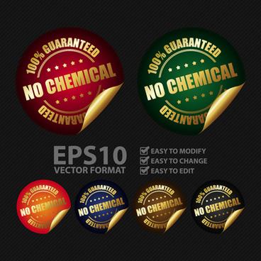 commodity peeling sticker vectors design